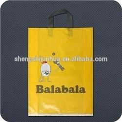 New hdpe soft handle shopping plastic bag