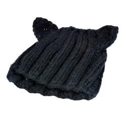 UNISEX Men & Women Star Knit Hat Skull Cap Ski Knit hat with cat Ear SV010873