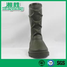 Dark Green Neoprene Cross Rain Boots
