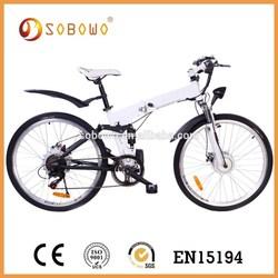 36V 250W battery powered white road bike