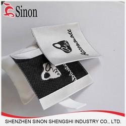 iron on silk cotton woven label