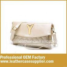 Innovative closure women clutch bag