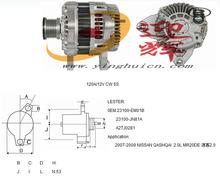 High Quality Car Alternator for Qashqai 2.0L MR20DE, 120A/12V CW 6S, OEM: 23100-EM01B 23100-JN81A A2TJ0281