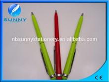 new design multi-function slim touch pen,metal ball pen