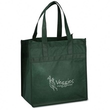 Custom Brown PP Woven Shopping & Grocery Bags (W801048)