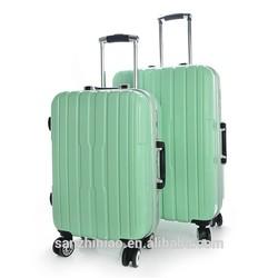 three birds trolley bag/abs+pc trolley luggage
