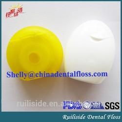 circle shape nylon waxed mint personal dental floss/flosser