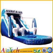 PVC slip n slide commercail inflatable water slide part inflatable water slide with pool for sale