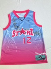 Custom made digital print basketball jersey