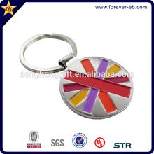 High quality custom logo metal keychain