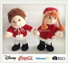 Christmas Gift singing and dancing plush boy and girl doll
