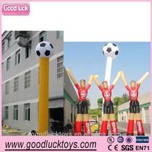 Sky dancing tubes inflatable football air dancer for advertising soccer