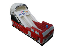 Fire Truck Inflatable Dry Slide with Certificate
