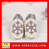 Hot sell connection spain cartoon custom made latin dance kids dance snow pattern newborn real leather baby shoes for girls