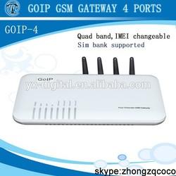 Hot 4 Ports VoIP GSM PSTN Gateway,GSM VoIP Gateway,GoIP Gateway