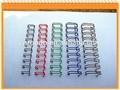 Material de oficina y escuela, materiales de encuadernación de alambre del anillo o, doble bobina, doble bucle de alambre de diferentes tamaños y colores para elegir
