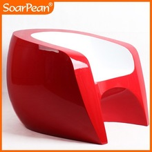 special design wholesale modern red fiberglass arm chair