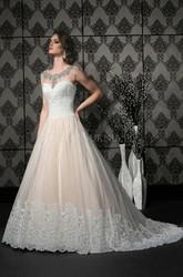 Bride Wedding Dress 2015 Bridal Gown Princess Boat-Neck Sleeveless Backless Floor-Length Beading Lace Wedding Dresses W35628