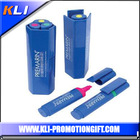 Cheap promotional gifts 3 in 1 highlighter pen