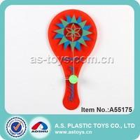 Plastic jokari toy paddle ball game