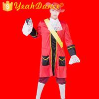 Red Style Pirate Costume Wholesale Pirate Costume Men