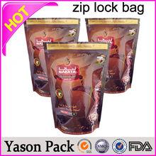 Yason hot mini zipper foil potpourri herbal incense tamper-proof tear notch pouch packing fruit juice zipper bags mylar heat sea