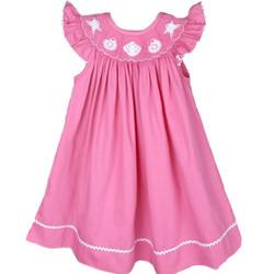 Hot Pink Girl Custom Ruffle Shirt and Dress Set