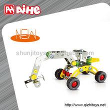 Metal diy kid toy enlighten brick toys model shantou block factory
