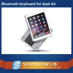 New! Membrane 360 Degreen Rotation Aluminium Bluetooth Wireless Azerty Keyboard Laptop Computer For Ipad Air 2 Case/For Ipad 6