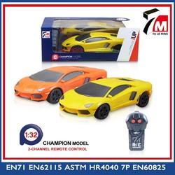 Mini car body 2 channel plastic remote control car model 1:32