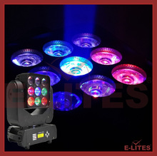 New style Mini matrix 9*12W 4in1 RGBW LED Beam moving head light