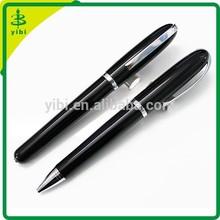yibi-03 Laser engrave logo pen black metal ballpoint pen for promotion