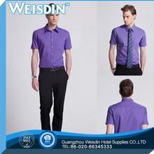Office shirts solid color herringbone boys fashion shirt pants