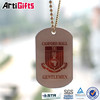 Commemorative cheap metal dog tag with embossed letters