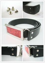 fashion belt buckle, LED Scrolling text belt buckle wholesale,led digital belt buckle