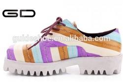 Women shoes platform heel vintage carve patterns or designs casual shoes women's shoes