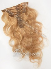 2015 New Coming!! #16 Clips in Human Hair Extensions 6A Brazilian/Peruvian/Malaysian Virgin Hair Body Wave /Straight