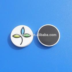 simple flower design round decorative rubber fridge magnet