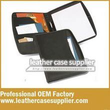 Cool classic unisex leather portfolio