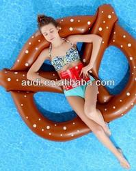 Giant Pretzel Inflatable Float tube for swimming pool 3 kids