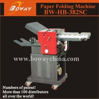 Boway service 382SC with counter Paper folding machine fan fold