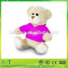 customized stuffed toy; plush teddy bear with T-shirts; stuffed bear