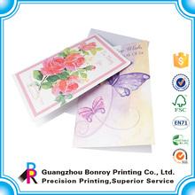 Custom handmade paper full color Greeting gift card