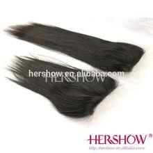 Straight malaysian hair top closure hair piece clip in hair