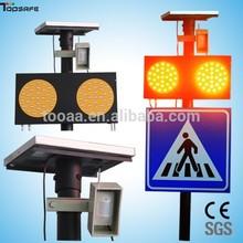 TOPSAFE Detector Solar Pedestrian Crossing Traffic Signal