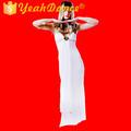 de alta calidad de color blanco egipcio trajes de cleopatra