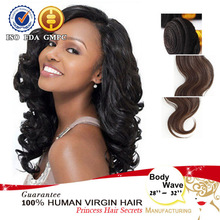top grade unprocessed 100% virgin no shedding tangle free machine made hair swift extension