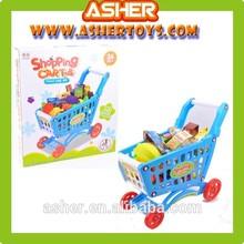80 Pieces Plastic Supermarket Shopping Cart Play Set Toys