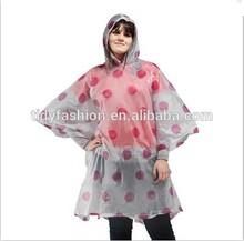 High Quality Ladies Pink Rain Poncho