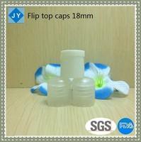 18mm wholesale manufacturer plastic round bottle screw cap flip top lids for shampoo, conditioner, olive oil, detergent